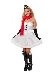 Costume da pupazzo di neve di natale per donna
