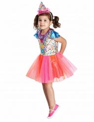 Costume pagliaccio multicolore da bambina