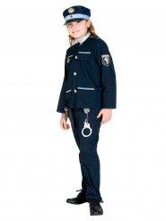 Costume da poliziotto blu da bambino