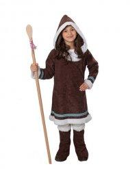 Costume da Esquimese marrone per bambino