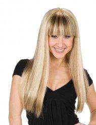 Parrucca bionda per donna con frangia