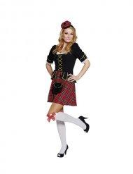 Costume scozzese per donna nero oro e rosso