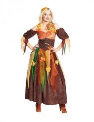 Costume da fata della foresta per donna marrone