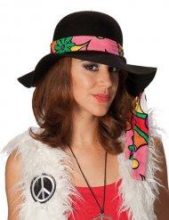 Cappello hippie nero per donna