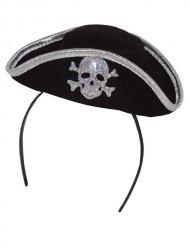 Cerchietto con cappellino da pirata per donna