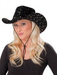 Cappello da cowgirl nero