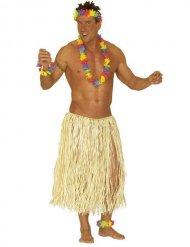 Gonna hawaiana naturale per adulto