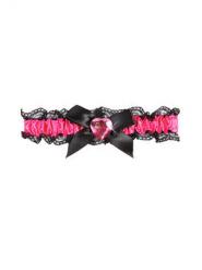 Giarrettiera rosa e nera per donna