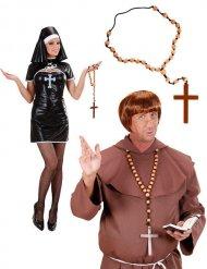 Collana stile rosario con croce