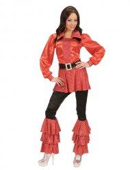 Costume disco rosso anni 70 donna