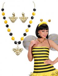 Gioielli ape giallo e nero per donna