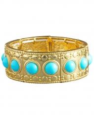 Bracciale dorato con pietre blu per donna