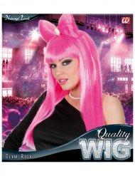 Parrucca manga con fiocco rosa