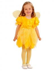 Costume giallo fata dei fiori per bambina