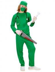 Costume da chirurgo verde per bambino halloween