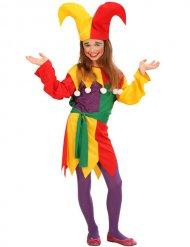 Costume da giullare multicolore per bambina