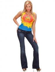 Top psichedelico Hippie per donna