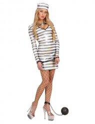 Costume da prigioniera con paillettes per donna