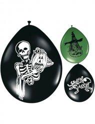 8 palloncini verdi e neri Halloween