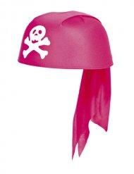 Bandana rosa da pirata per bambina