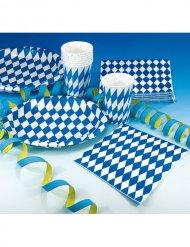 20 tovaglioli bavaresi decorativi bianco e blu