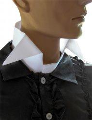 Collo di camicia bianco