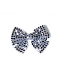 Papillon argentato con paillettes