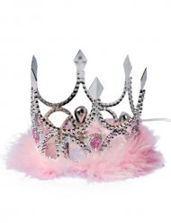 Corona da principessa rosa e argento