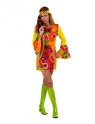 Costume hippie giallo per donna