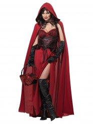 Costume da cappuccetto rosso malefico per donna Halloween