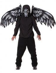 Maschera e ali da angelo della morte per adulto