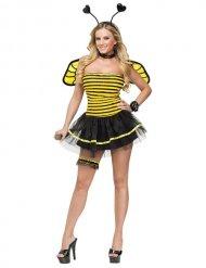Costume da ape sexy con giarrettiera per donna