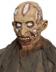 Mezza maschera da zombie senza pelle per adulto