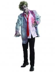 Costume da zombie bianco e grigio per uomo