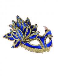 Maschera veneziana blu e oro adulto
