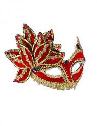 Maschera veneziana rosso e oro adulto