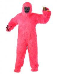 Costume da gorilla rosa per adulto