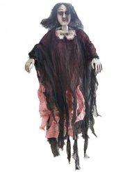 Decorazione da appendere zombie donna 90 cm