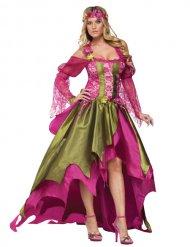 Costume fata verde e rosa per donna