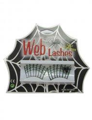 Ciglia finte nere per Halloween con ragno