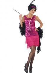 Costume charleston rosa da donna