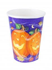 8 Bicchieri zucca allegra halloween