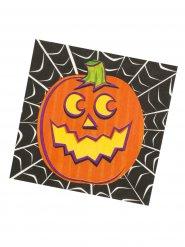 16 Tovaglioli in carta Zucca di halloween