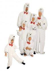 Costume bianco da orso polare per adulto