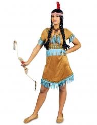 Costume da indiana a frange turchesi per donna