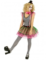 Costume da clown punk colorato per donna