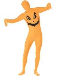 Costume seconda pelle Zucca di halloween per adulto
