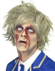 Parrucca da zombie corta bionda da uomo Halloween