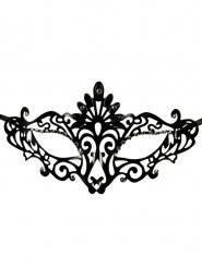 Maschera veneziana nera in stile gotico