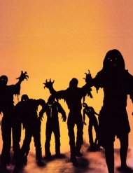 Decorazioni halloween adesive zombie